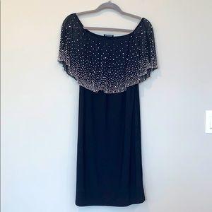 MSK Embellished off-shoulder dress